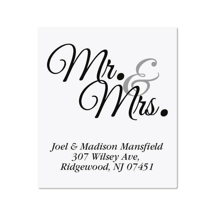 Mr. & Mrs. Select Return Address Labels