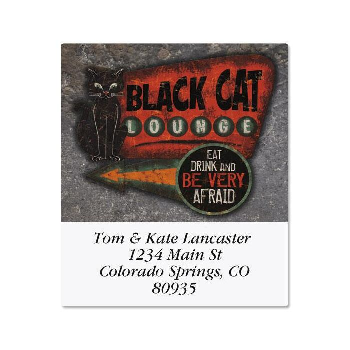 Black Cat Lounge Select Return Address Labels