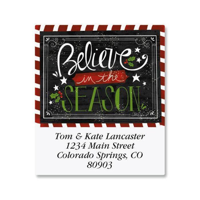 Believe In The Season Select Return Address Labels