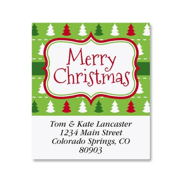 Holiday Frame Select Return Address Labels