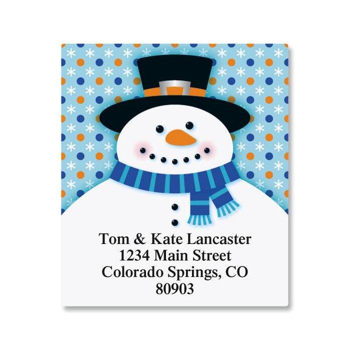 Festive Snowman Select Return Address Labels