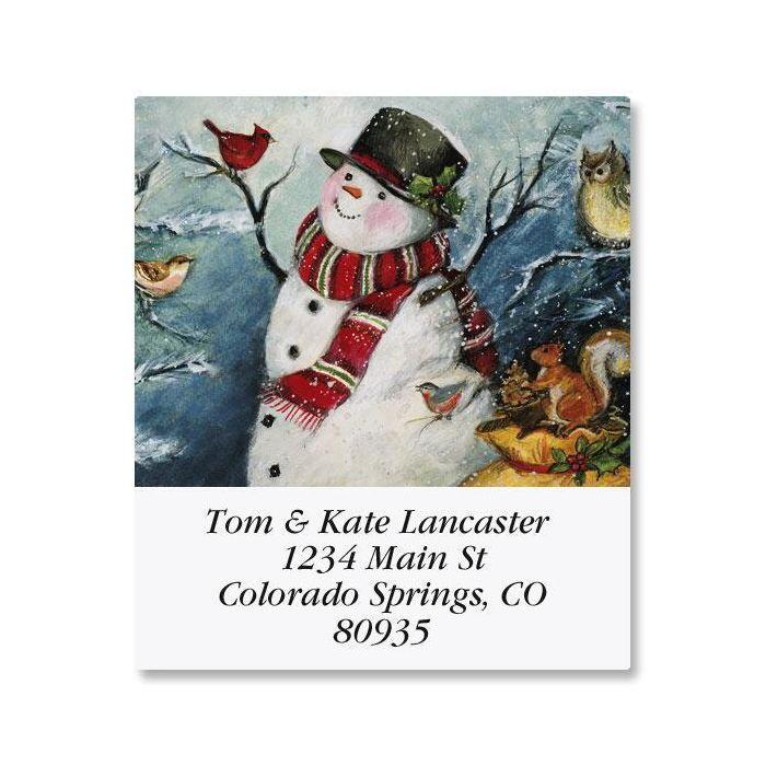 Forest Snowman Select Return Address Labels