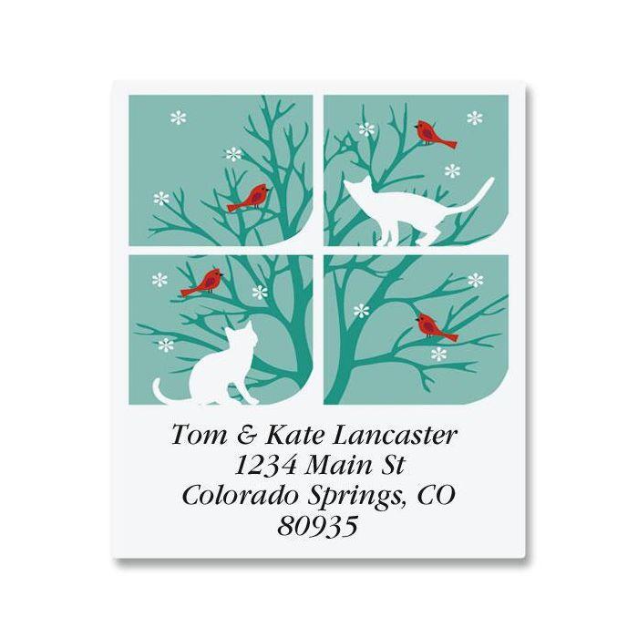 Snow Cats Select Return Address Labels