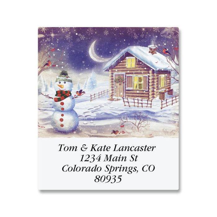 Winter's Calm Select Return Address Labels