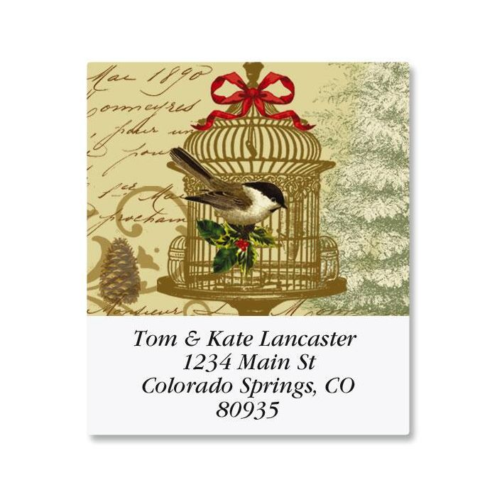 Golden Birdcage Select Return Address Labels