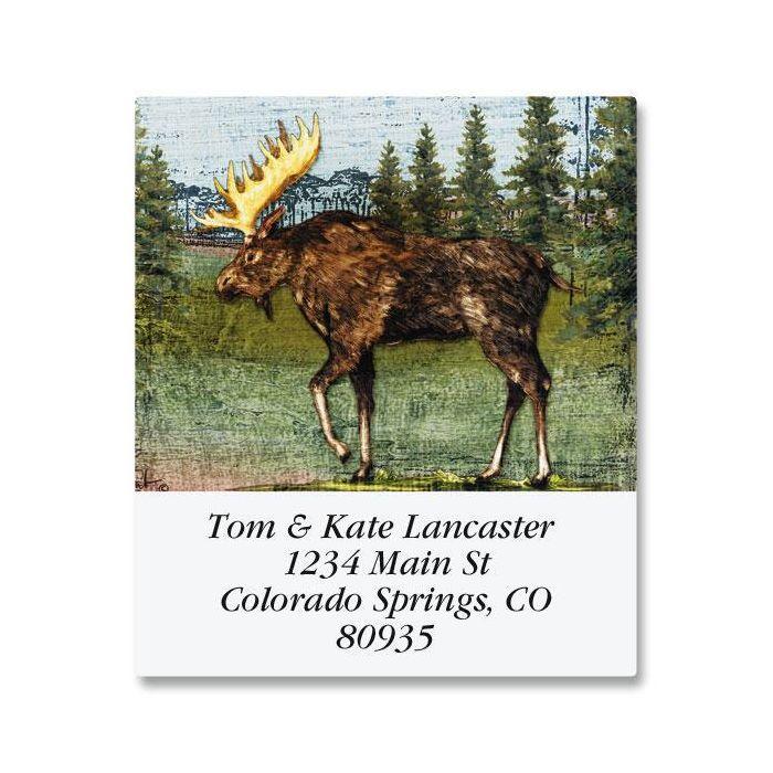Christmas Moose Select Return Address Labels