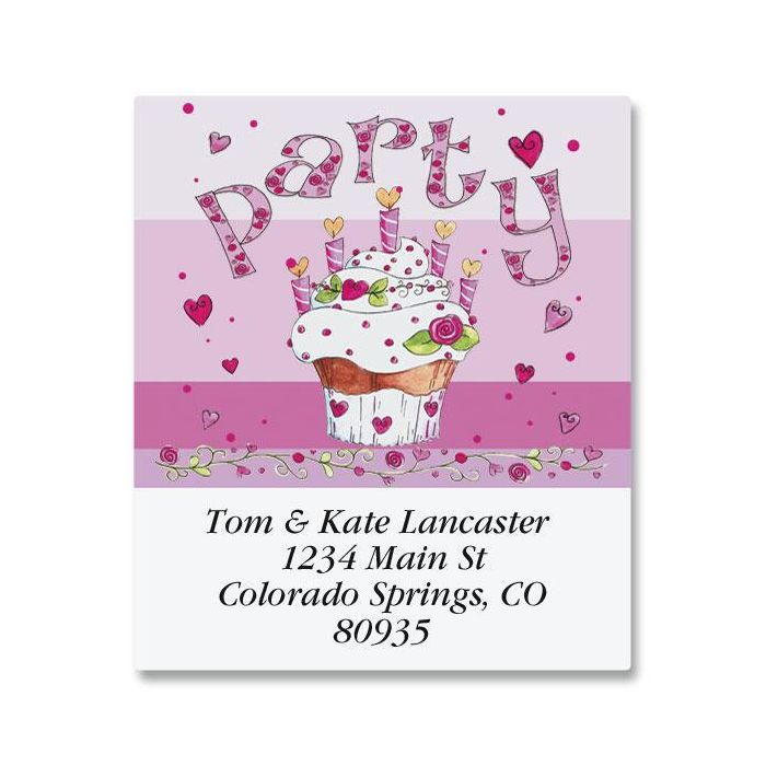 Pink Party Select Return Address Labels