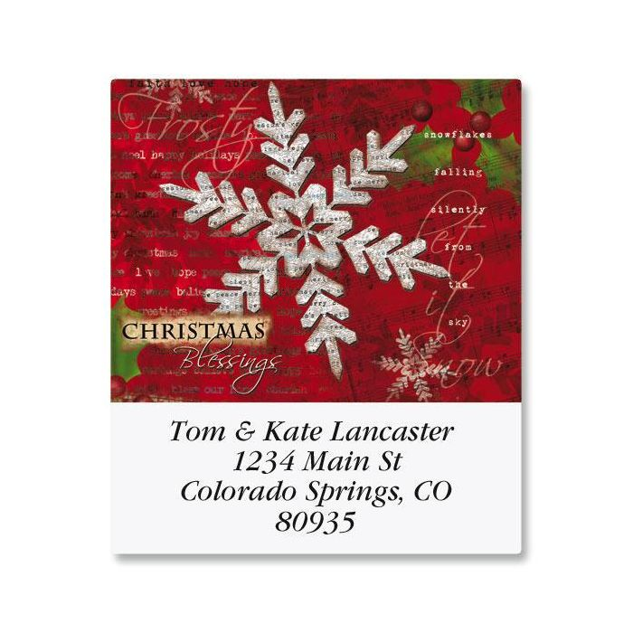 Snowflake Print Select Return Address Labels