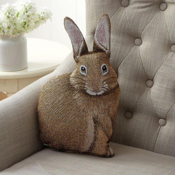 Hare Raising Bunny Shaped Pillow