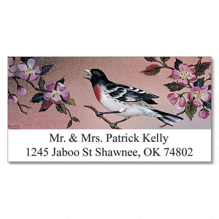 Birds Deluxe Return Address Labels  (24 Designs)