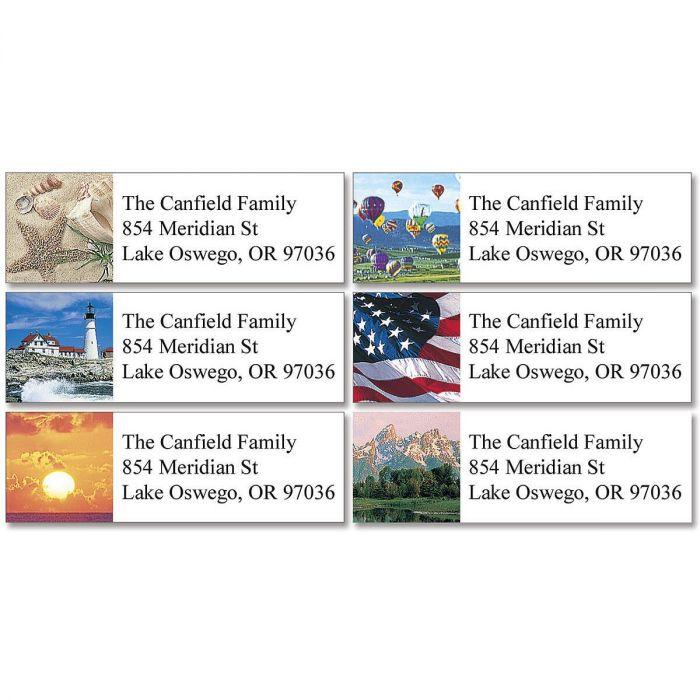Classic Scenes Classic Return Address Labels  (6 Designs)