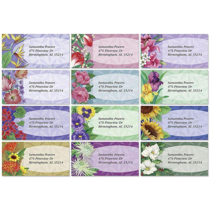 Fantasy Border Return Address Labels  (12 Designs)