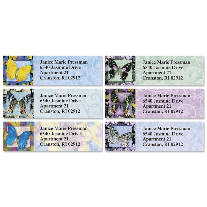 Brilliant Butterflies Classic Return Address Labels  (6 Designs)
