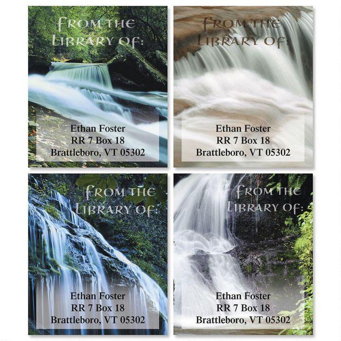 Waterfalls Bookplates  (4 Designs)