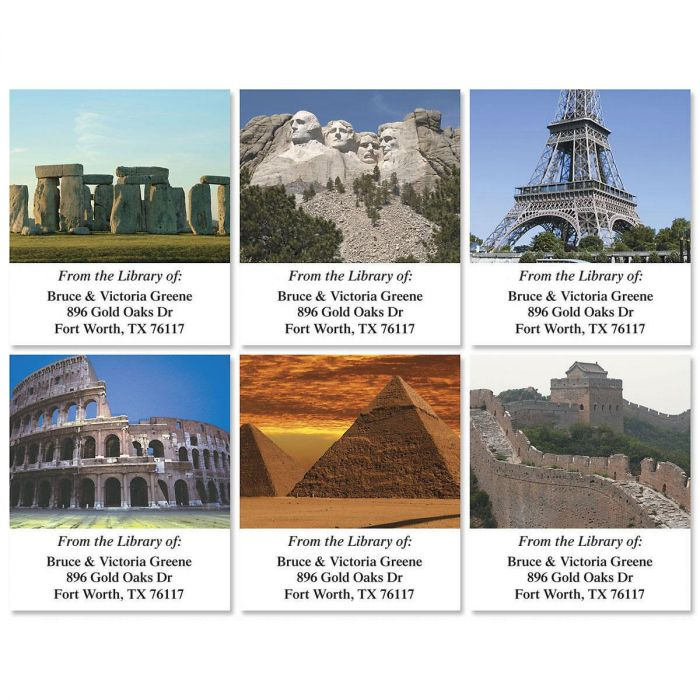 Wonders  of the World  Bookplates  (6 Designs)