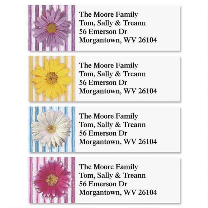 Daisy Classic Return Address Labels  (4 Designs)