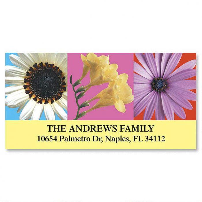 Floral Beauty Deluxe Return Address Labels (6 Designs)