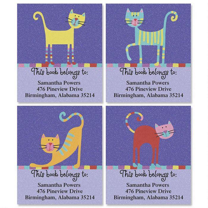 Fun Cats Bookplates  (4 Designs)