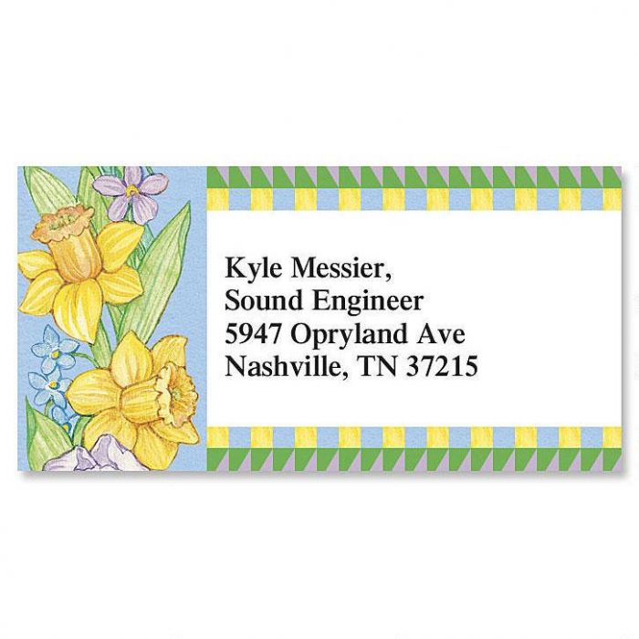 Country Year-Round Border Return Address Labels  (12 Designs)