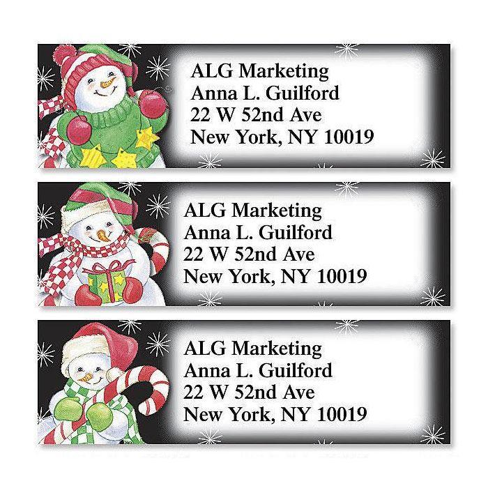 Happy Snowmen  Classic Return Address Labels (3 Designs)