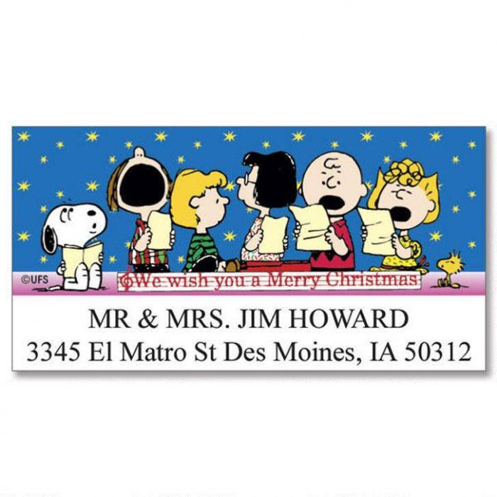 PEANUTS® Christmas Fun Deluxe Return Address Labels  (6 Designs)
