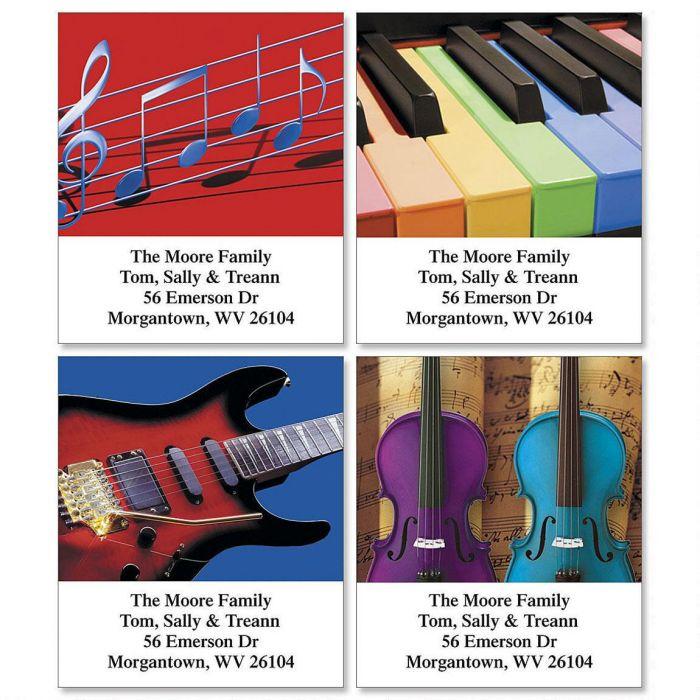 Instrumental Select Return Address Labels  (4 Designs)