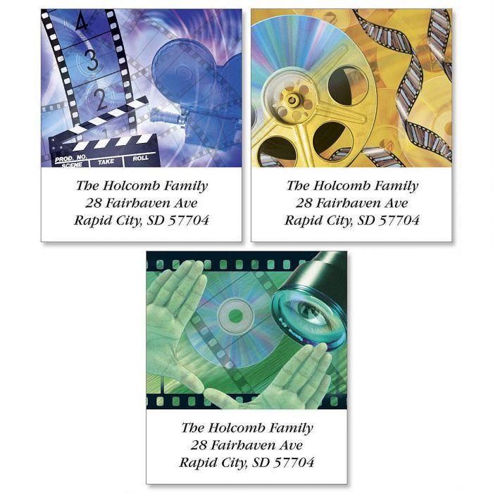 Movie Lovers Select Return Address Labels  (3 Designs)