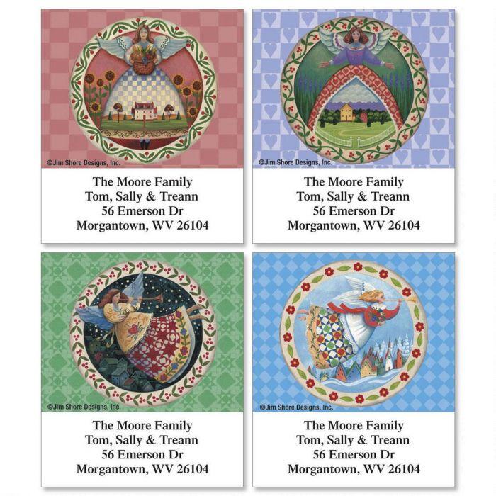 Seasonal Angels by Jim Shore Select Return Address Labels  (4 Designs)