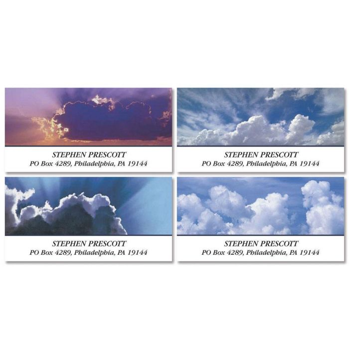 Cloudscapes Deluxe Return Address Labels  (4 Designs)