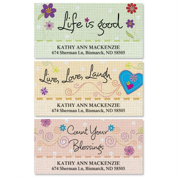 Pithy Sayings Deluxe Return Address Labels  (3 Designs)