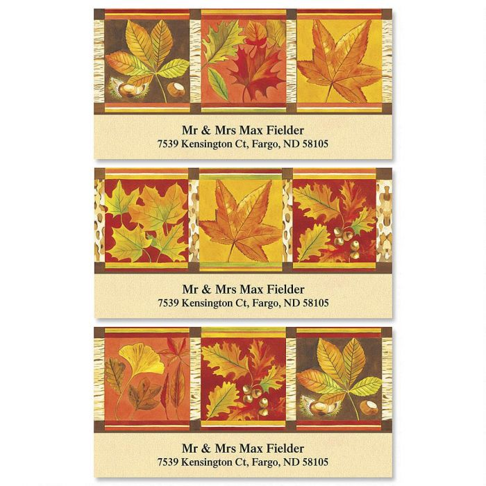 Fall Leaves Deluxe Return Address Labels  (3 Designs)