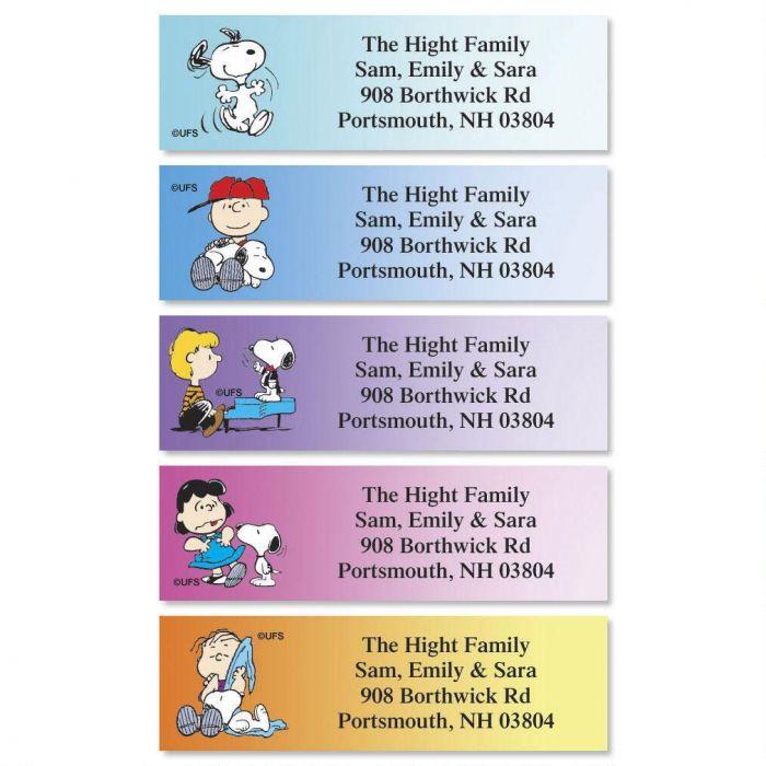 PEANUTS® Poses Classic Return Address Labels  (5 Designs)