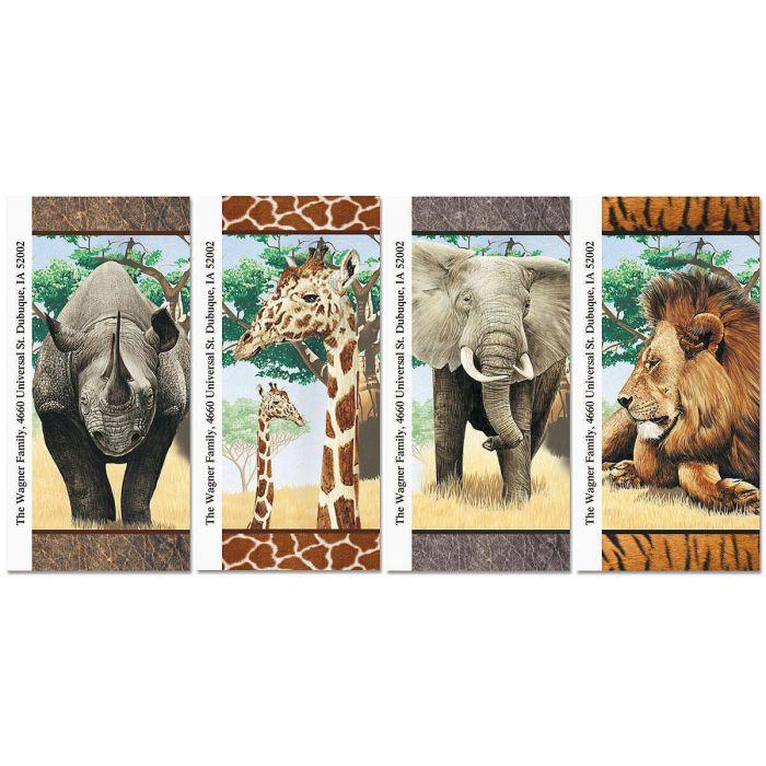 Trip to Africa Oversized Return Address Labels  (4 Designs)