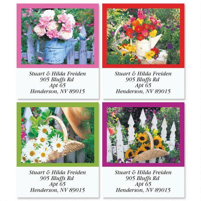 Windows in the Garden Select Return Address Labels  (4 Designs)