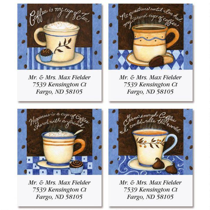 Coffee Smarts Select Return Address Labels  (4 Designs)