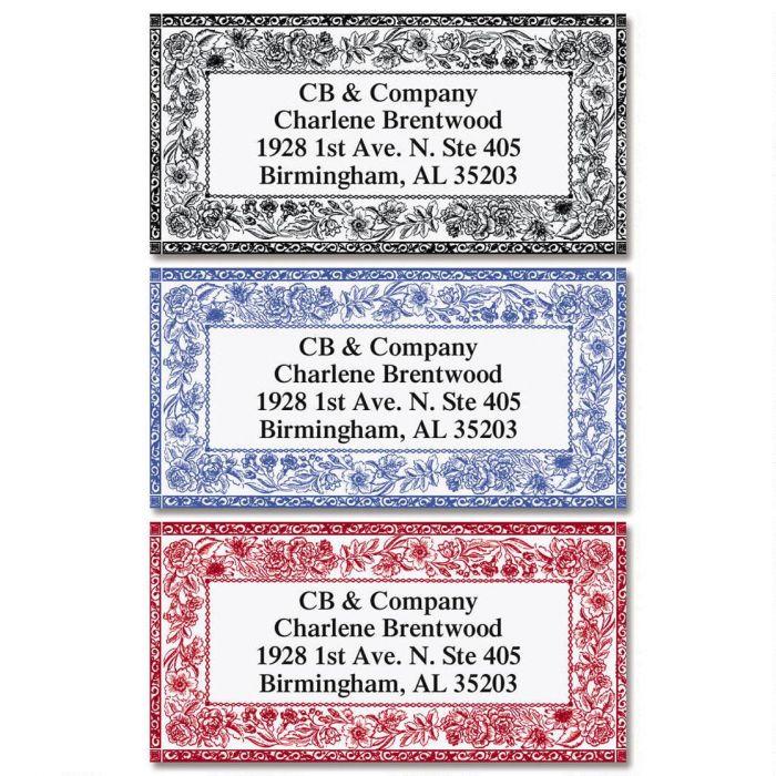 Ornate Toile Border Return Address Labels (3 Designs)