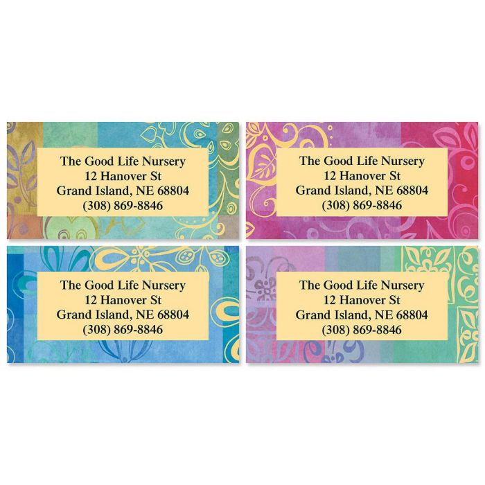 Ornamental Border Return Address Labels (4 Designs)