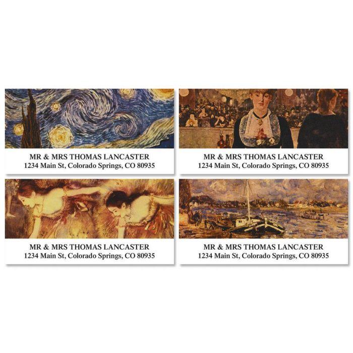 Fine Arts Deluxe Return Address Labels  (4 Designs)