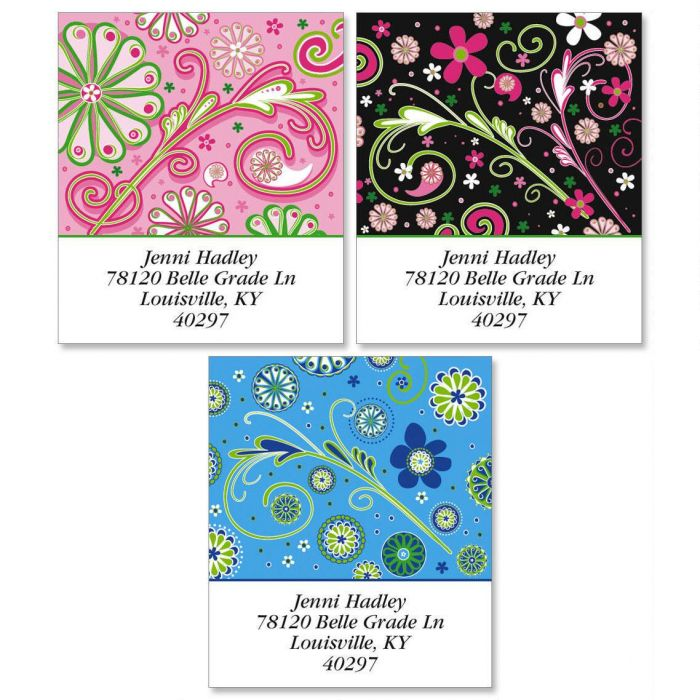 Fun Patterns Select Return Address Labels  (3 Designs)