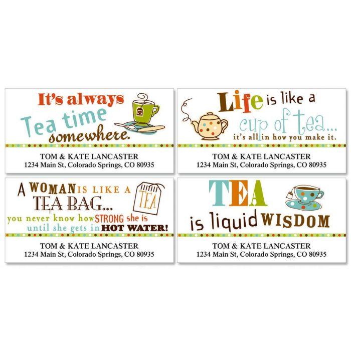 Tea Deluxe Return Address Labels  (4 Designs)