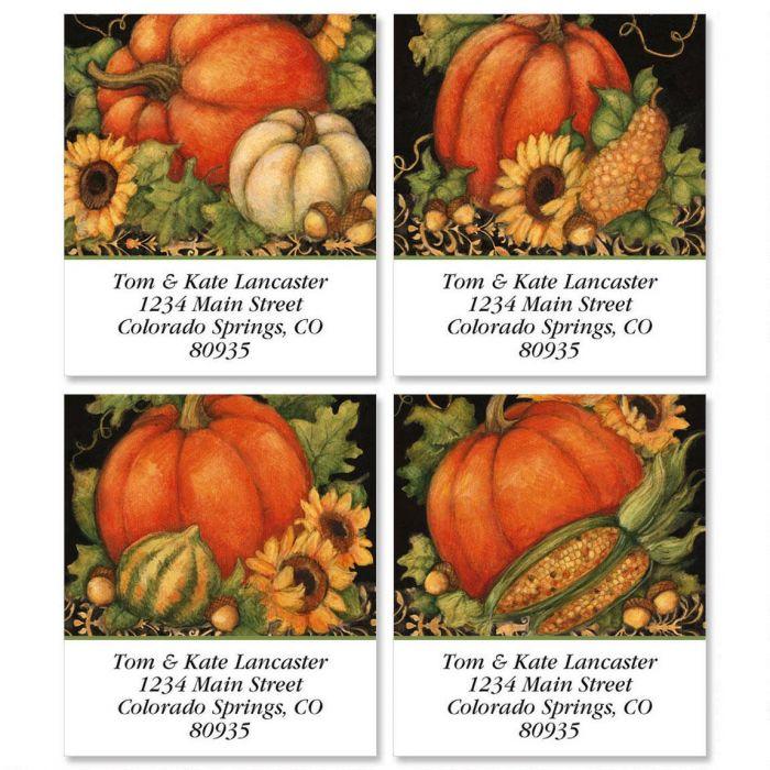 Pumpkin Harvest Select Return Address Labels  (4 Designs)