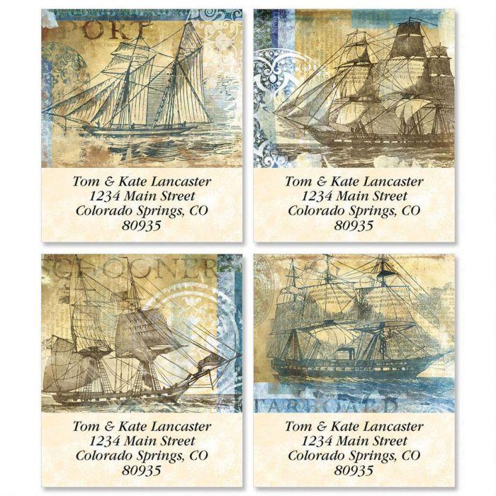 Sailing Ships Select Return Address Labels  (4 Designs)