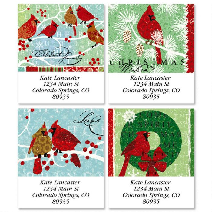 Berry Merry Christmas  Select Return Address Labels  (4 Designs)