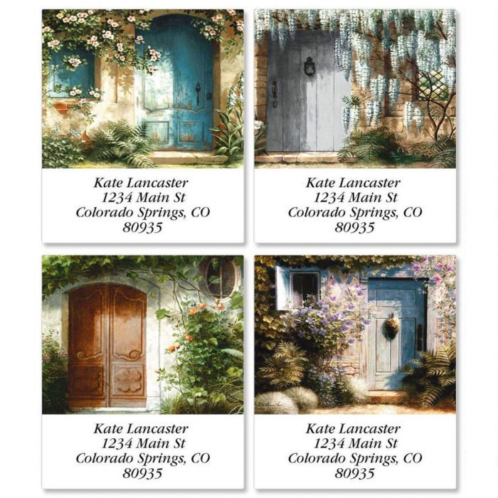 Shaded Entry Select Return Address Labels  (4 Designs)