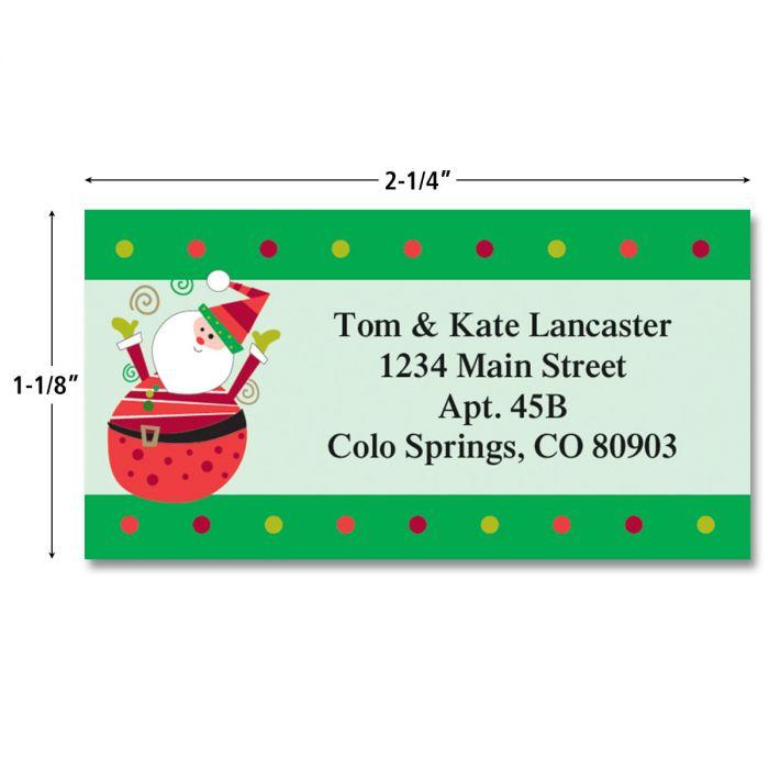 Fun Christmas Border Return Address Labels  (4 Designs)