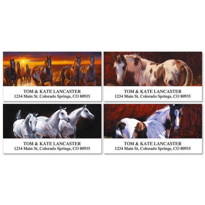 Handsome Horses Deluxe Return Address Labels  (4 Designs)