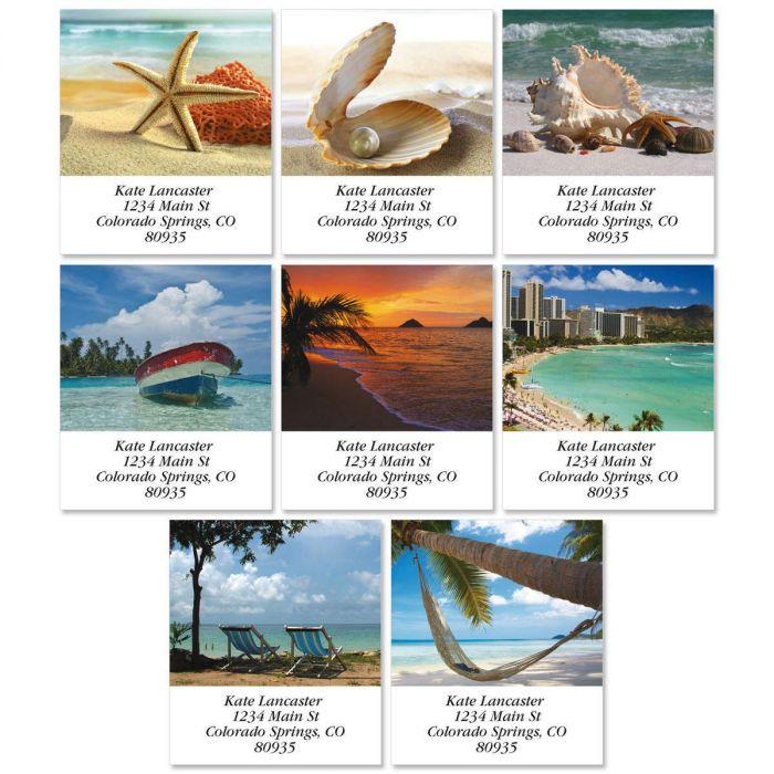 Tropical Harmony Select Return Address Labels  (8 Designs)