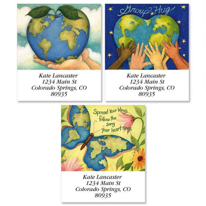 Earth Select Return Address Labels  (3 Designs)