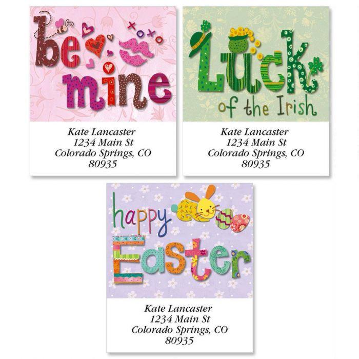 Spring Holiday Select Return Address Labels  (3 Designs)