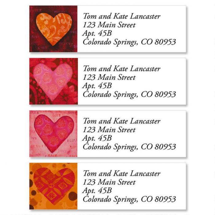 Heart Classic Return Address Labels (4 Designs)